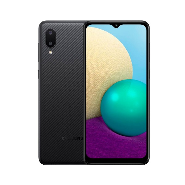 Samsung galaxy a02 negro/ móvil 4g/ dual sim/ 6.5'' hd+/ quad-core/ 32gb +3gb ram/ dual cam 13+2 mp